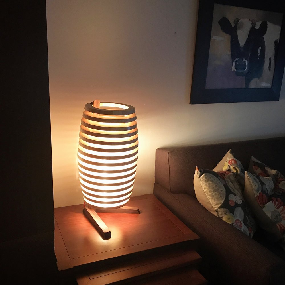 Chiaroscuro Lamp - Walnut & Ash - 22 x 11 x 11