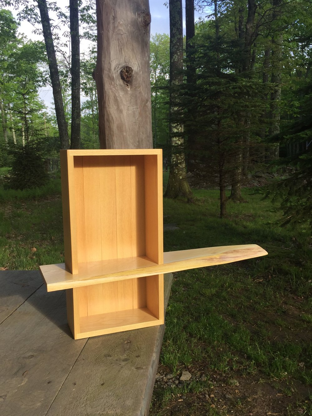 Bisected Wall Cabinet - Locust - 20 x 20 x 5