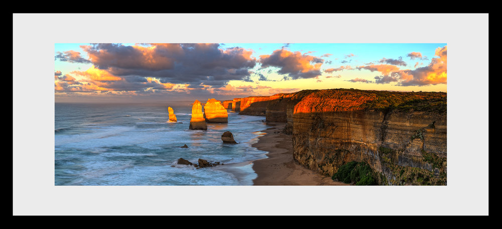 The 12 Apostles framed print as selected by Carla & Bianca on Chanel 9's tv series The Block. -