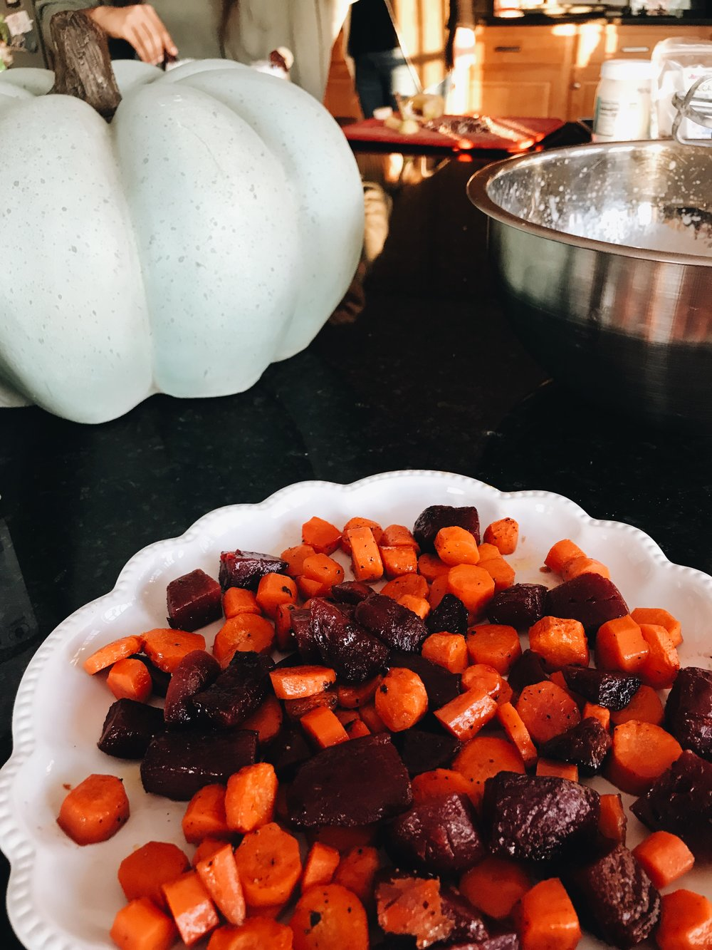 MAPLE GLAZED CARROTS + BEETS