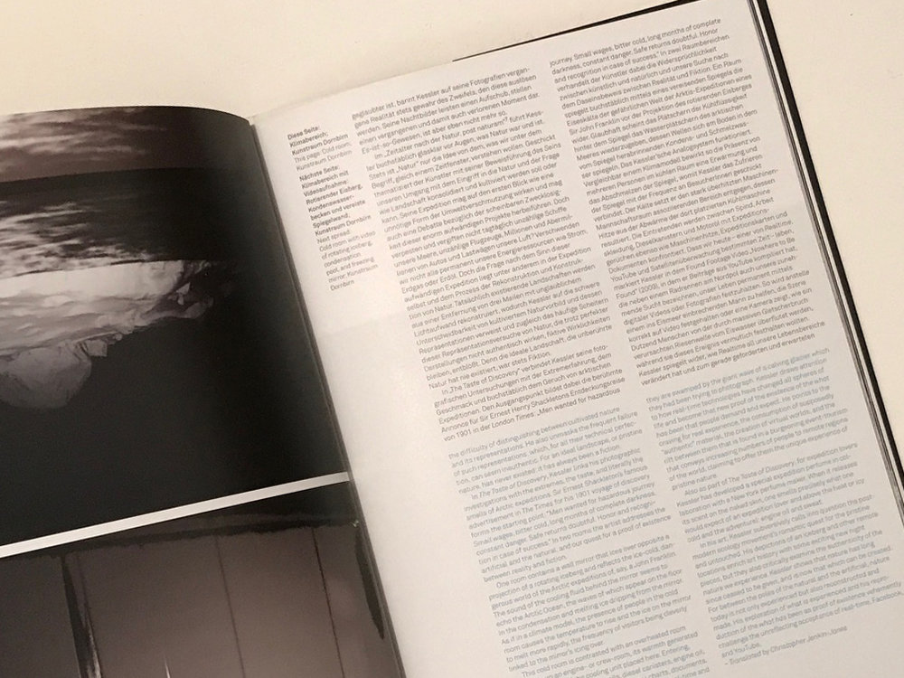 Exhibition catalogue design, publication design, printed matter, Kunstraun Dornbirn gallery, Mathias Kessler, EA Projects, Elizabeth Azen