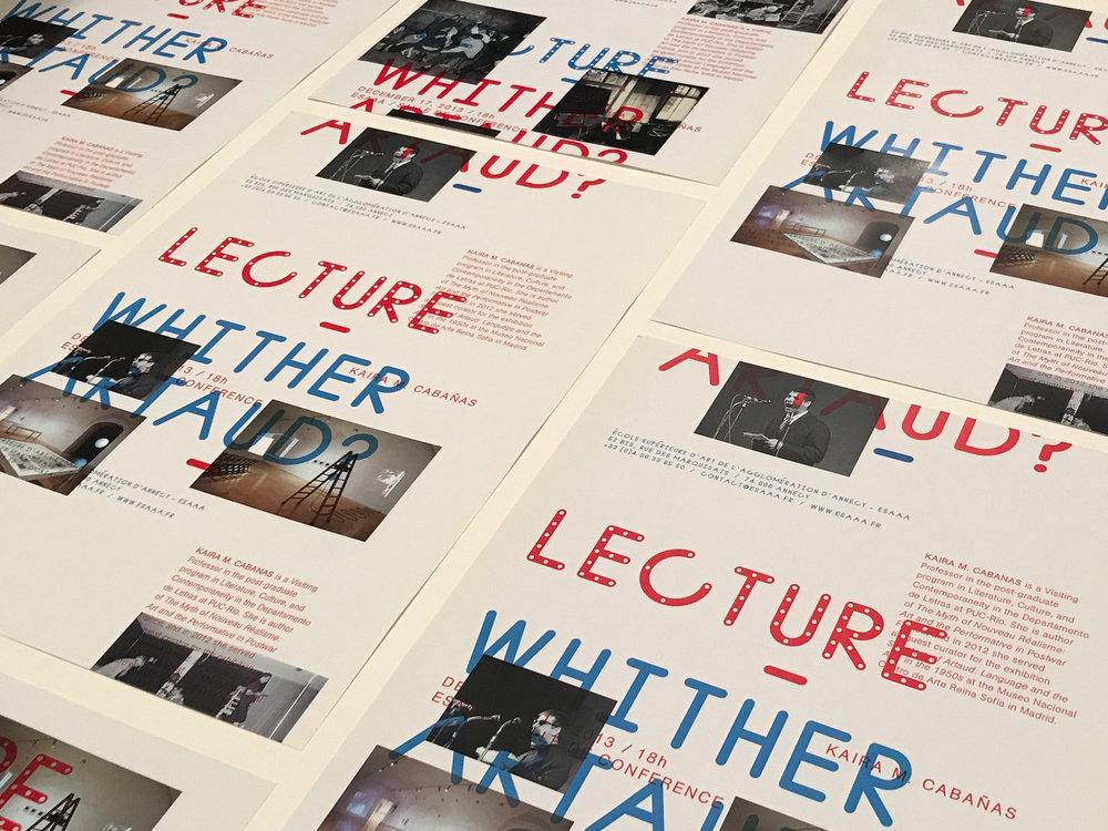 Antonin Arteaud, Poster Design, Graphic Design, Typography, EA Projects, Elizabeth Azen