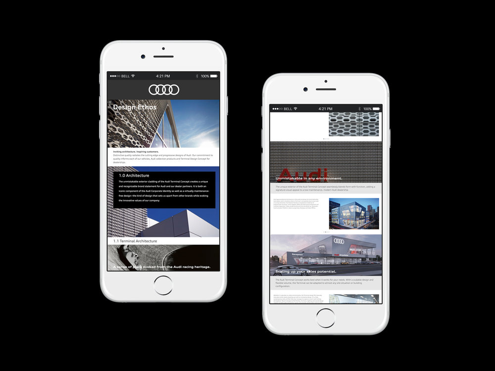 Audi of America, Architecture, Framework, Web Design, UX UI, Digital Strategy, EA Projects, RTXO, Elizabeth Azen