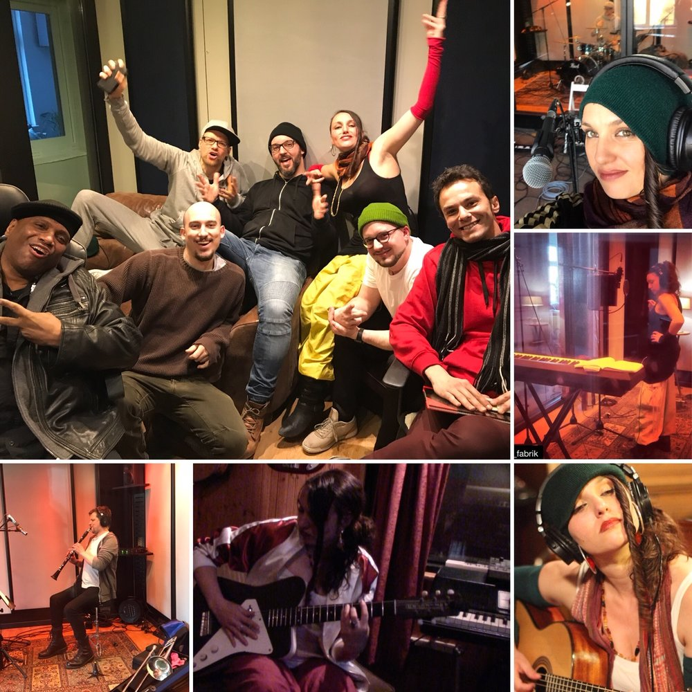 berlin: - Recording at Noize Fabrik with THE SWAG & Christian Dawid from Klezmer Sessions Neukölln.