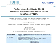 TUHH Performance Certificate