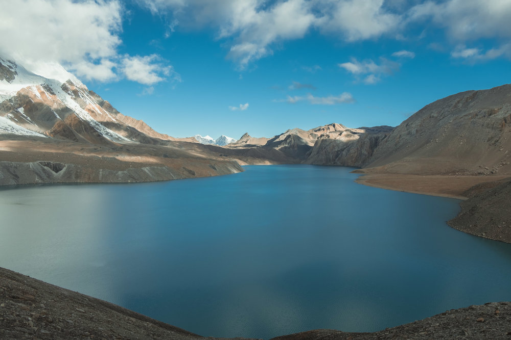 Tilicho Lake just after sunrise.