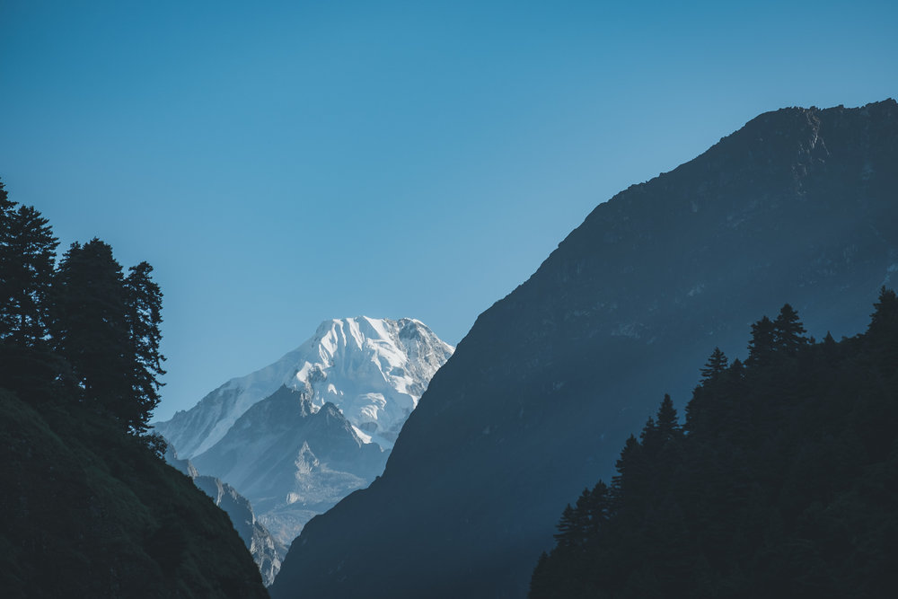 Manaslu, 8,163 metres, after sunrise.