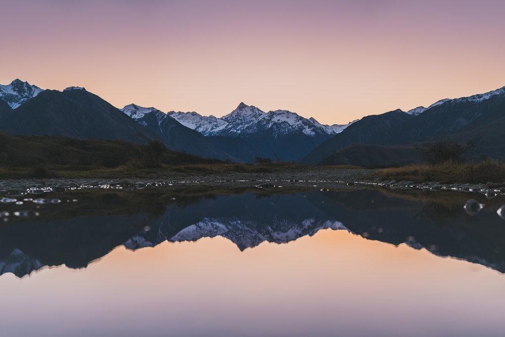 Newton Peak at sunset @ Mt Sunday, New Zealand