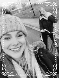 Here's Siobhan and I, exploring Helsinki by bike!