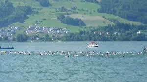The lake Swim for Ironman Switzerland 70.3