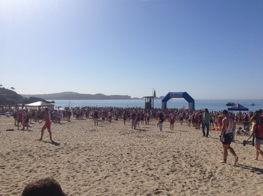 Swim start at Paguera