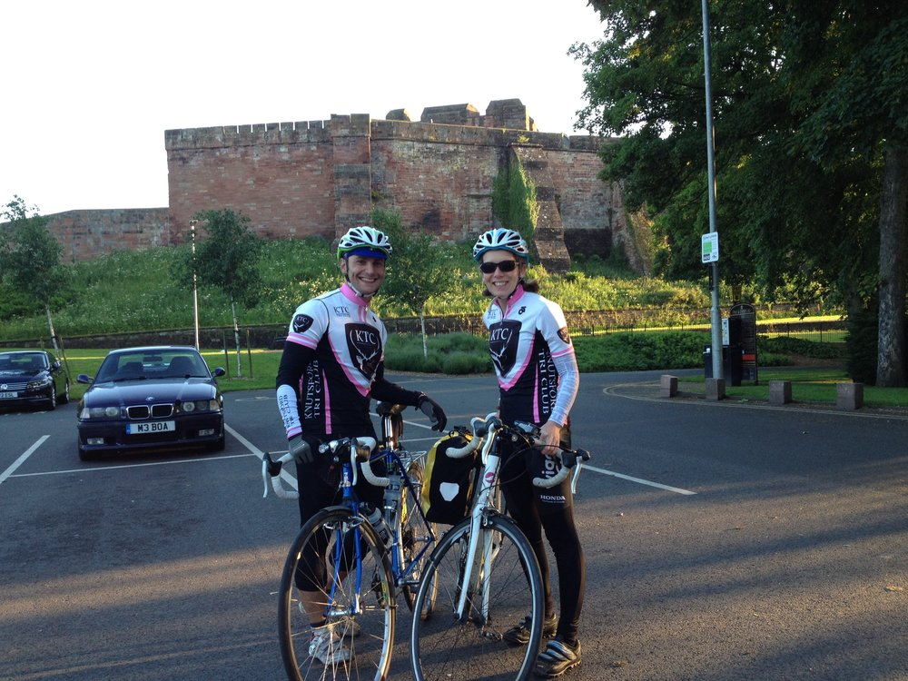 Rich and I getting ready to Ride to the Sun in Carlisle