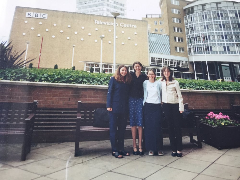 My first visit to TVC in London. I'm the small one.