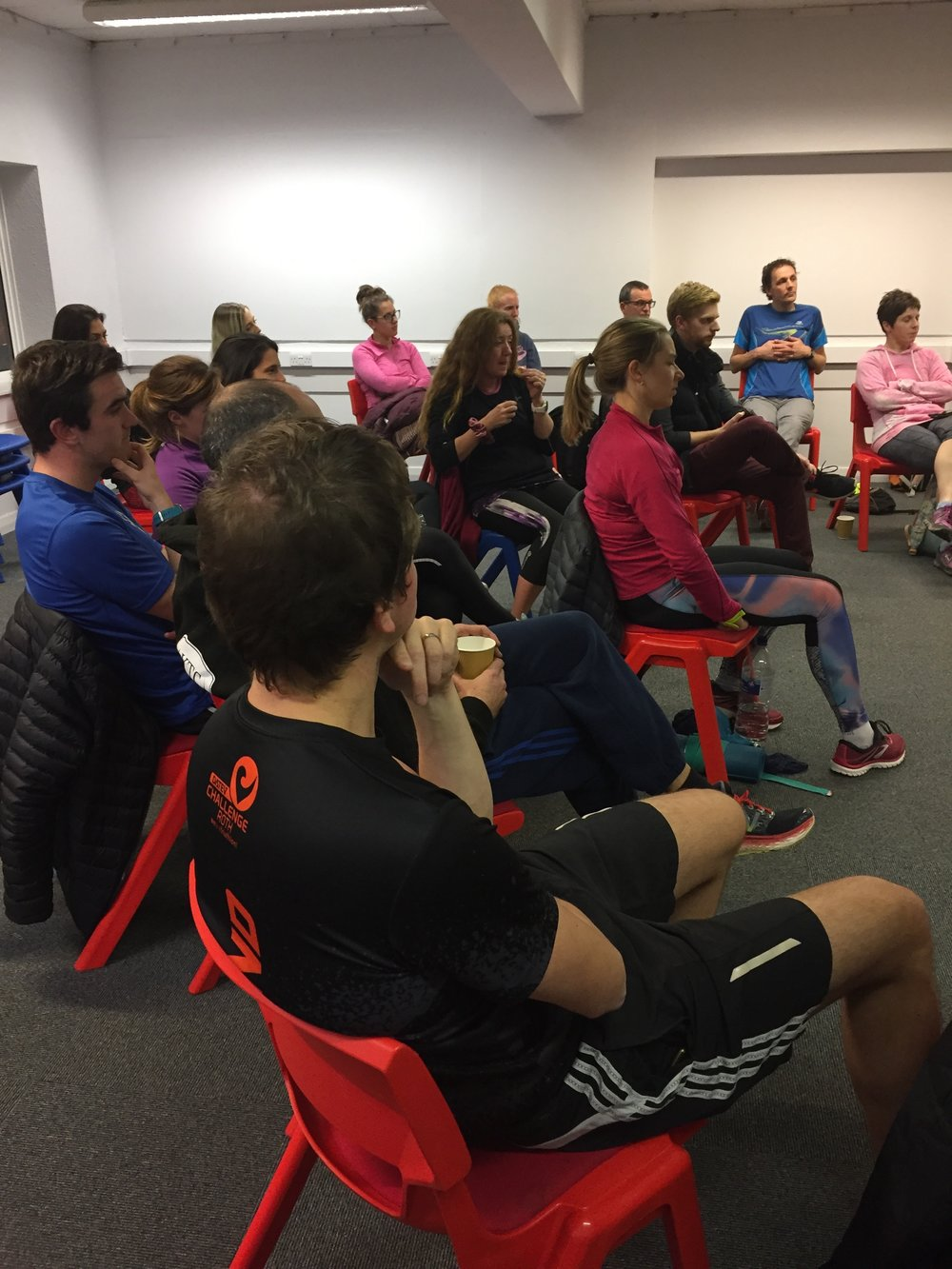 Q and A session with members of Knutsford Triathlon Club