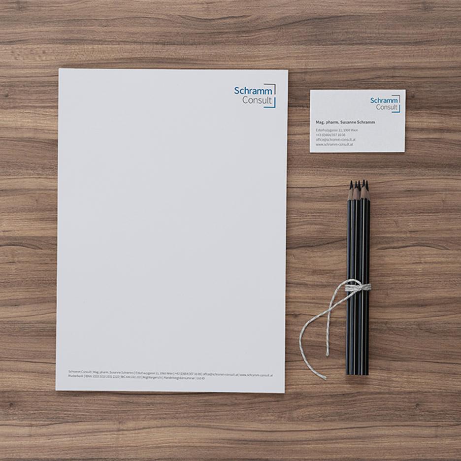 Geschäftsdrucksorten für Schramm Consult