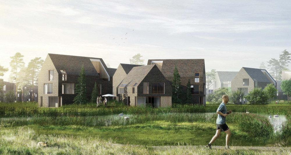 NATURBYDELEN RINGKØBING K    Byudviklingen udnytter tæt kontakt mellem by, natur og hav, til at udvikle et nyt boligområde med ca. 1.000 attraktive boliger, der alle bliver opført midt i naturen.