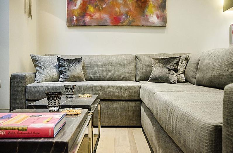 Bespoke Sofa and Cushions.