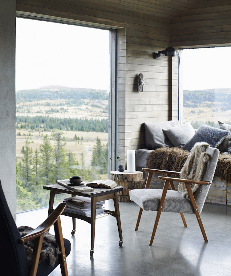 A cabin with a view in Norway | photos by  James Gardiner  for  The Scandinavian Home