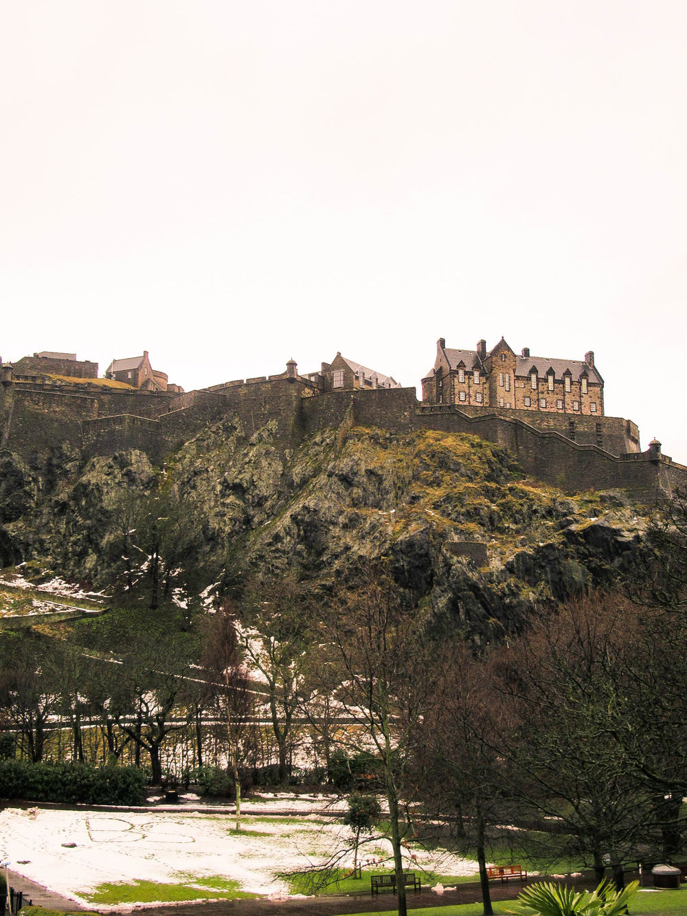 Castle view from Princess Street