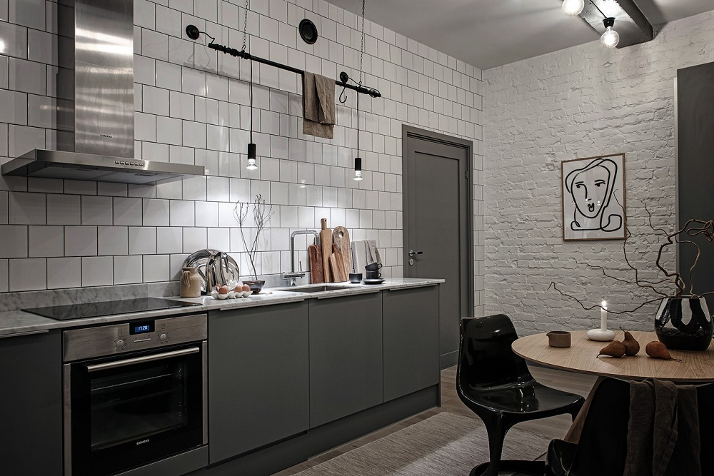 A New-York vibe in a Swedish apartment