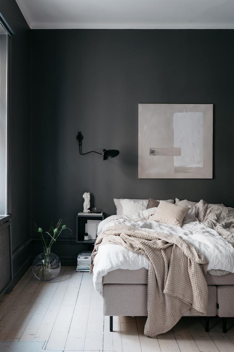 Grey Scandi bedroom   photos by Jesper Florbrant & Lovisa Häger