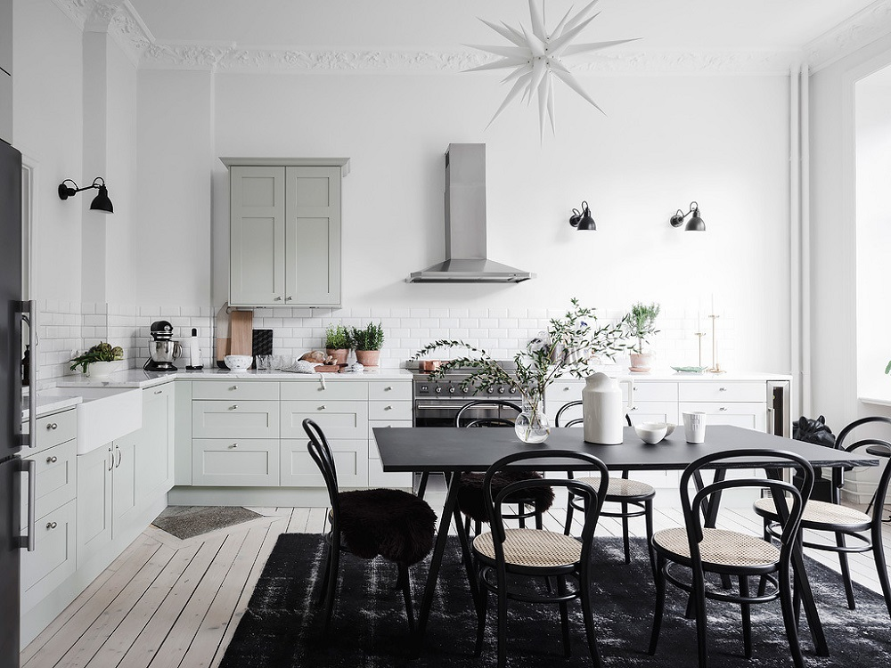 A light Scandinavian kitchen   photo by Anders Bergstedt