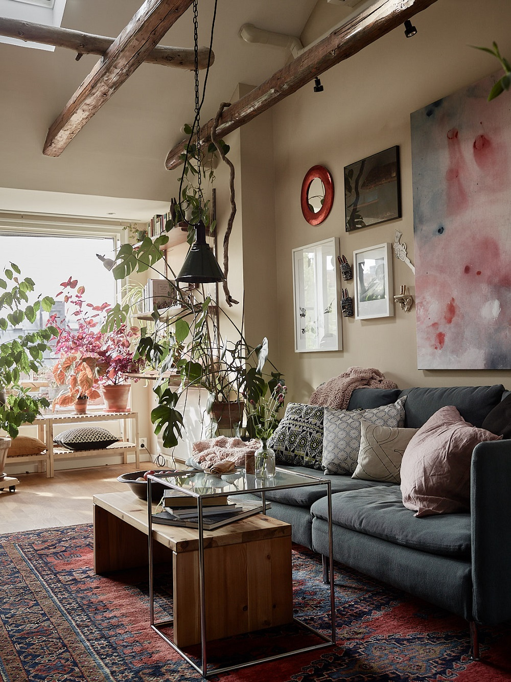 The Nordroom: A Cozy Plant-Filled Attic Apartment