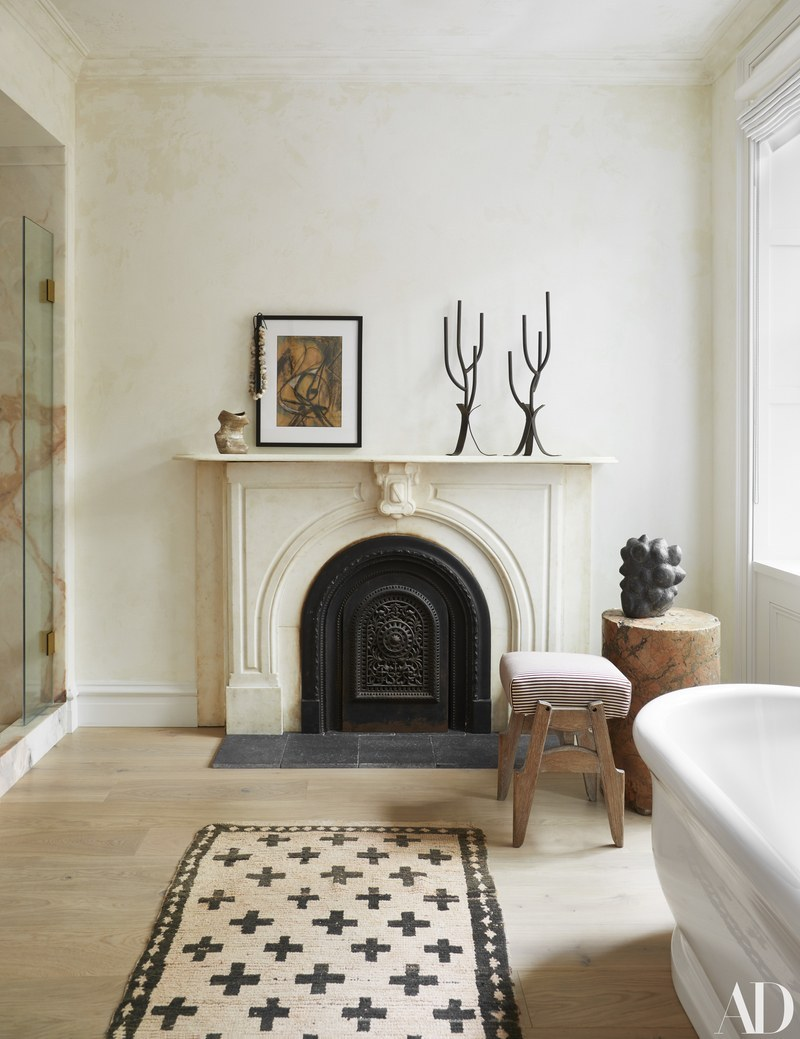 Yes to a fireplace in the bathroom | photo by Gieves Anderson