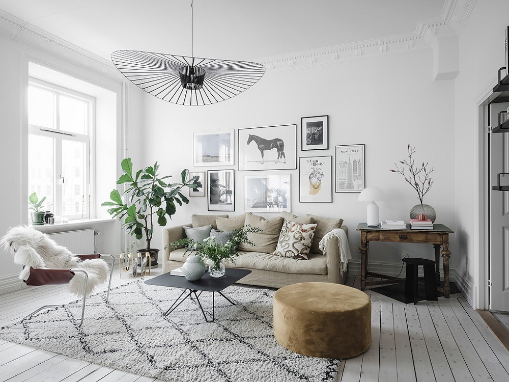 A Scandinavian living room | photo by Anders Bergstedt