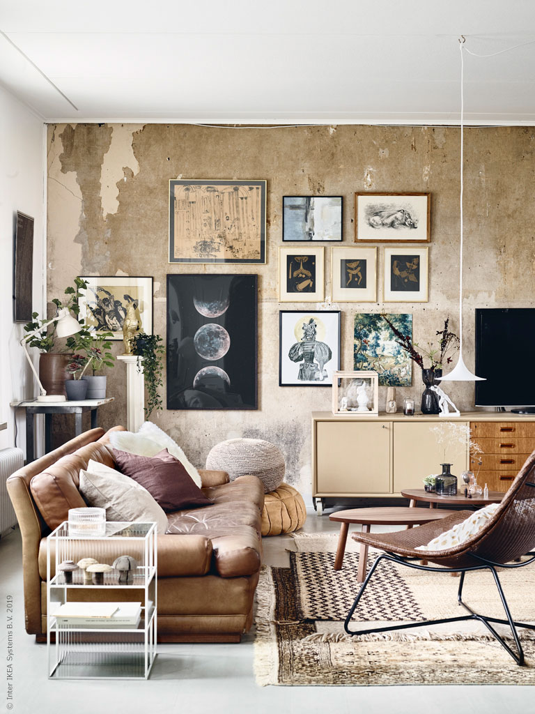 Ikea Living Room Photos a stunning art-filled living room with eye-catching walls