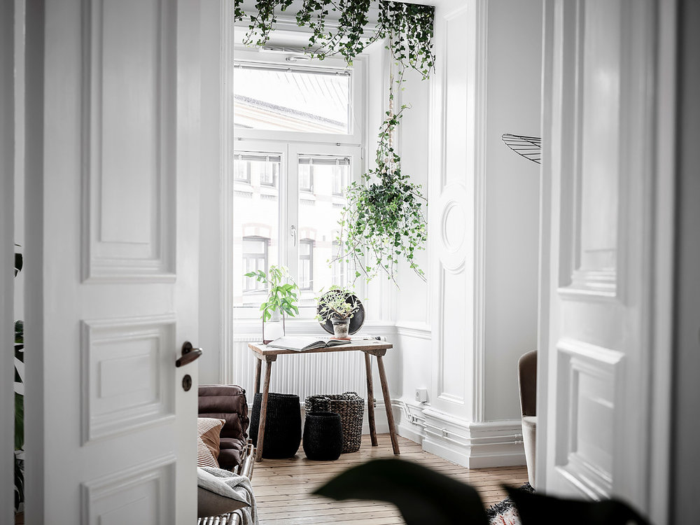 The Nordroom - A Scandi Apartment with A Canopy of Plants in the Bedroom