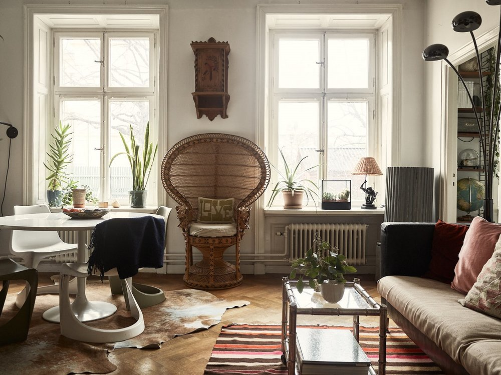 The Nordroom - A Small Vintage Bohemian Apartment in Stockholm