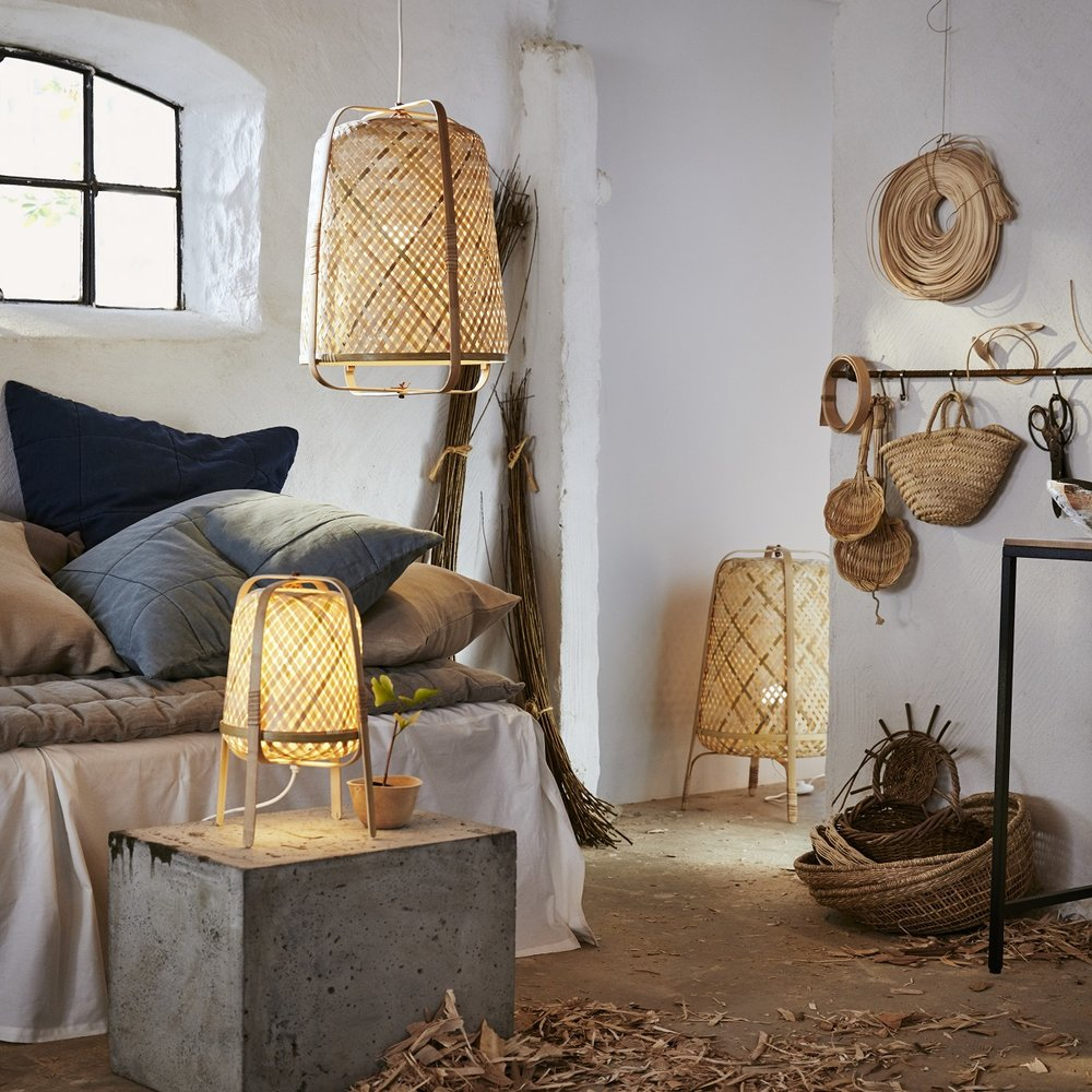 IKEA Knixhult bamboo lamps