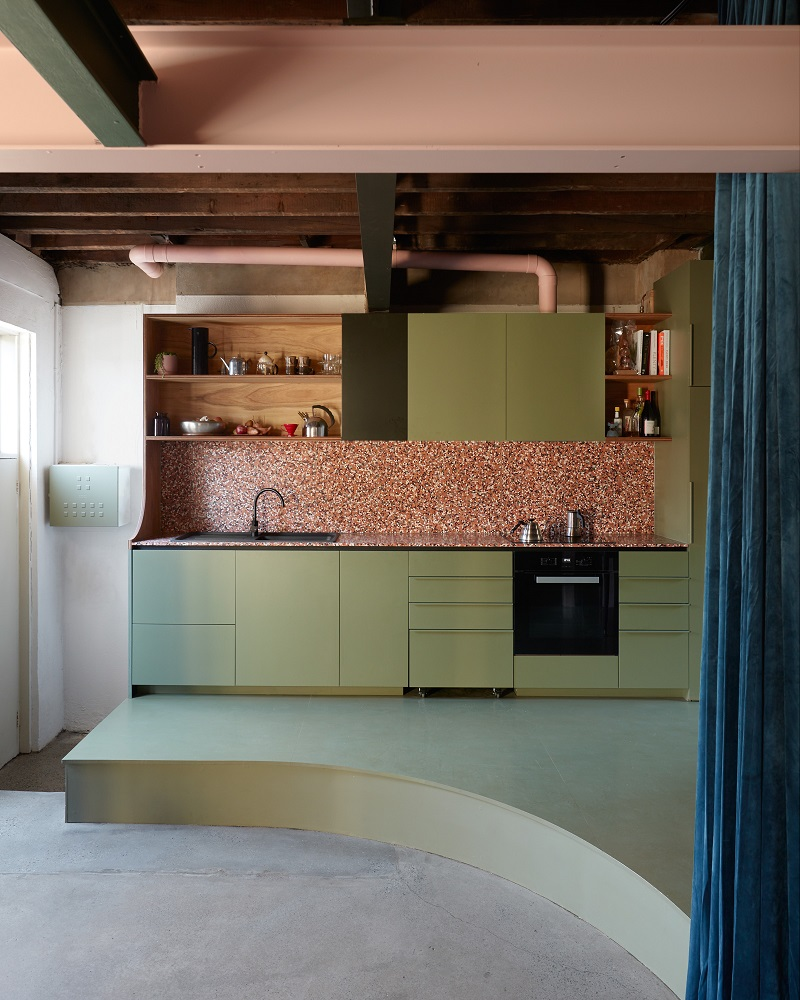 The Nordroom - Recycled Materials in A Colorful Architectural Home in Melbourne