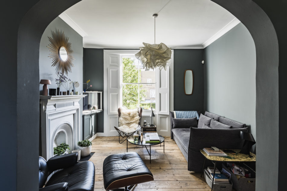 The Nordroom - A Blue and Grey London Home with Beautiful Wooden Floors