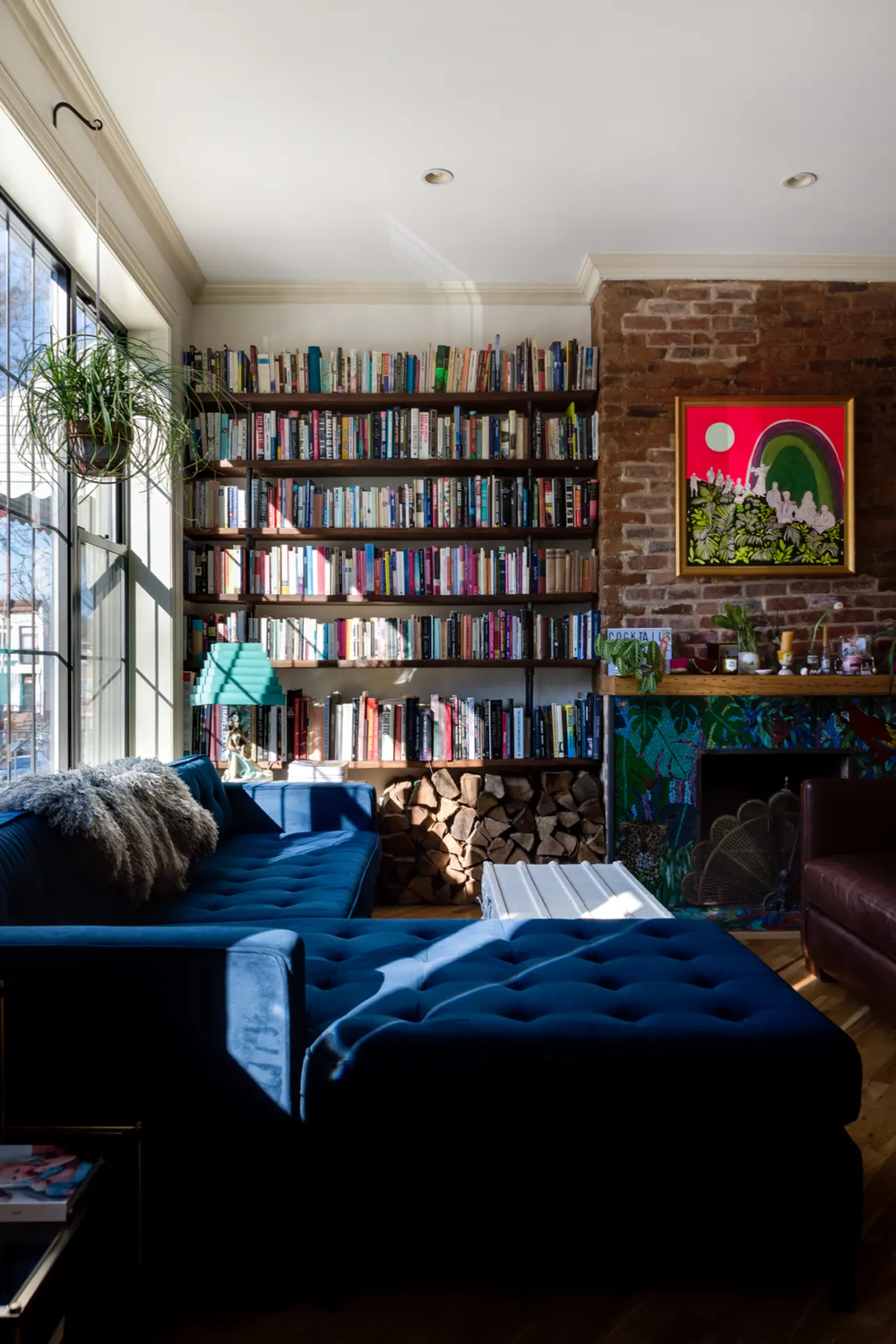 The Nordroom - A Fun Brooklyn Family Home With Colorful Wallpaper