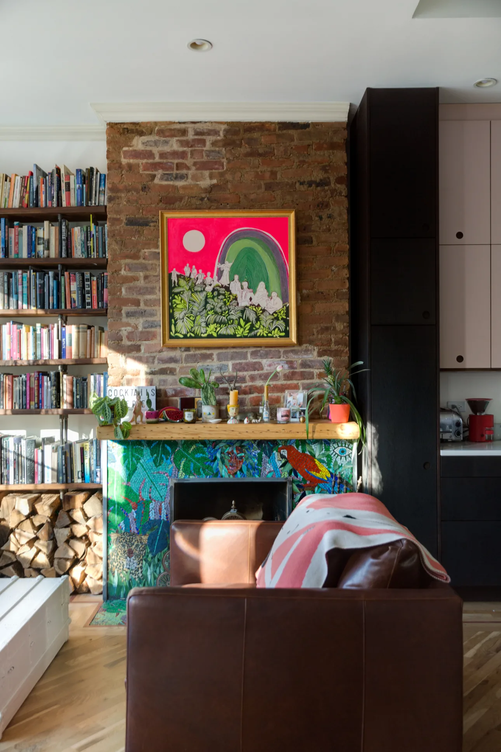 The Nordroom - Colorful Wallpaper In A Fun Brooklyn Family Home