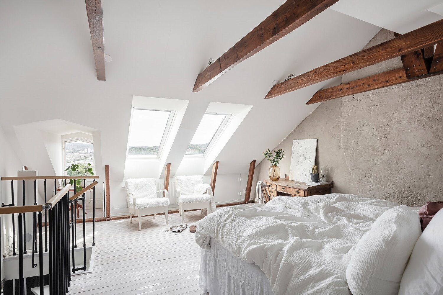 A Scandinavian Maisonette With A Bright Attic Bedroom The Nordroom