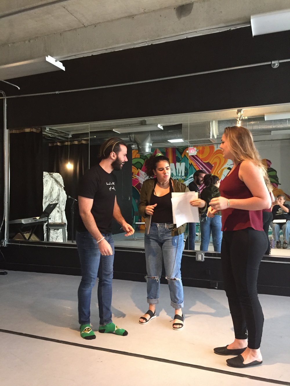 LOVE AT SECOND SIGHT rehearsal
