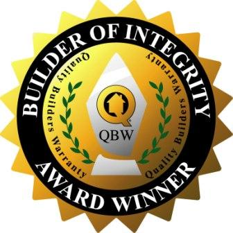 2013 Builder of Integrity Award -Quality Builders Warranty Corporation