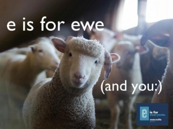 """My take on a promotional campaign for my home town: """"e is for everyone."""""""