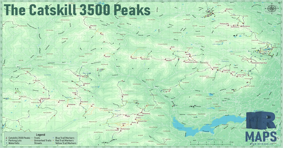 Updates made to Catskill 3500 Peaks Trail Map! — MR Maps