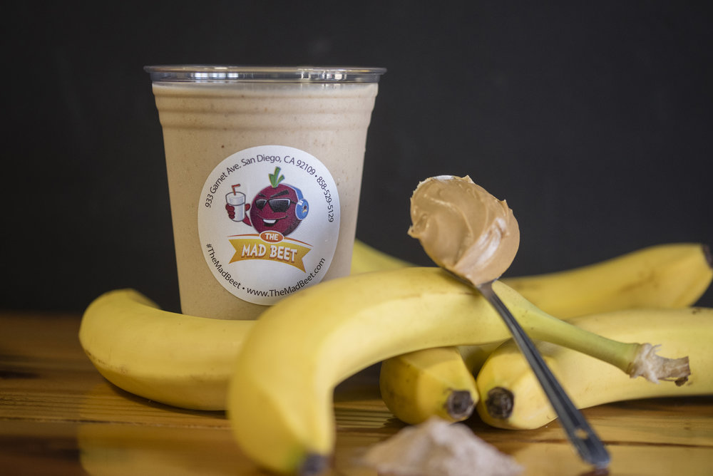 The Arktik Monkey - There is nothing more satisfying than a cold, rich and protein filled drink after an amazing workout. With its almond milk base, chopped bananas, and a punch of whey protein and peanut butter, the Arktik Monkey is our #1 pick.