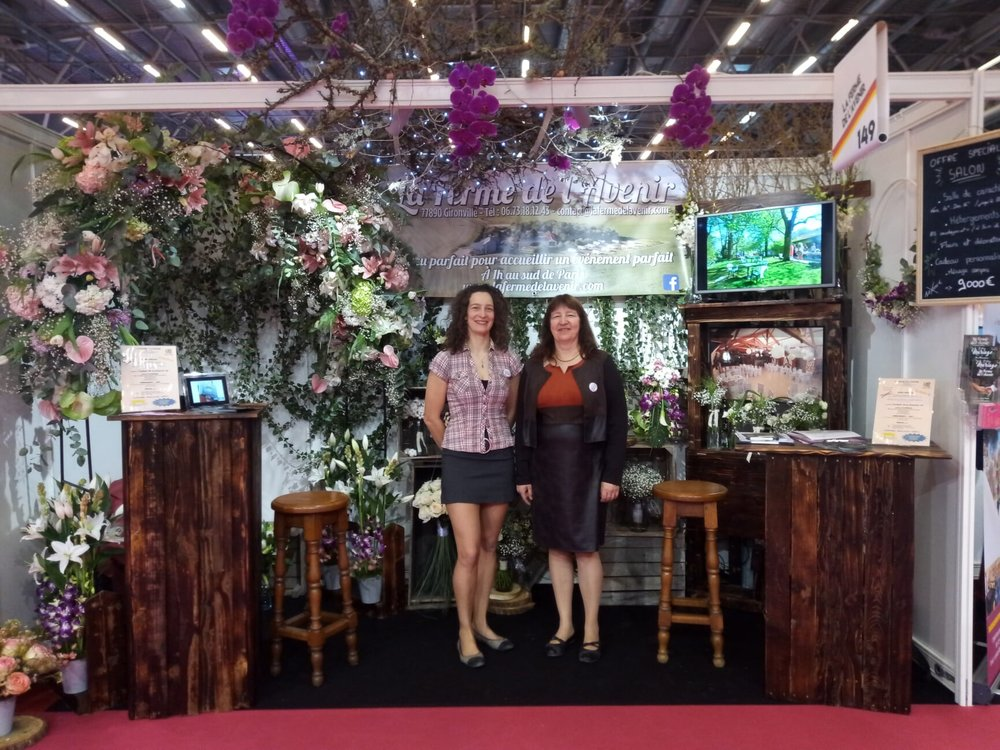 stand la ferme de l avenir decoration florale salon du mariage paris 2019
