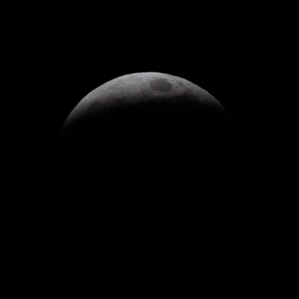 getting close to full eclipse, nearly time to change shutter speed significantly for total eclipse