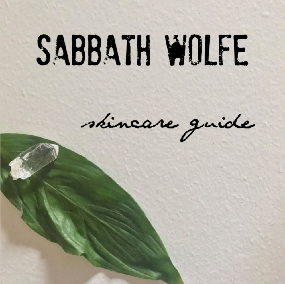 Sabbath Wolfe products are formulated to work together. Skincare is self care. Self care should be cathartic and ritual in nature. Taking care of yourself means you can better care for others. Restart Button Spray Wash and Oh, Alice! Face Toner are designed to benefit everyone and may be matched to moisturizers as desired. Each skin type slide is a recommendation for optimal results and isn't a strict rule. It's your body, you make the rules. This is the Sabbath Wolfe skincare guide.