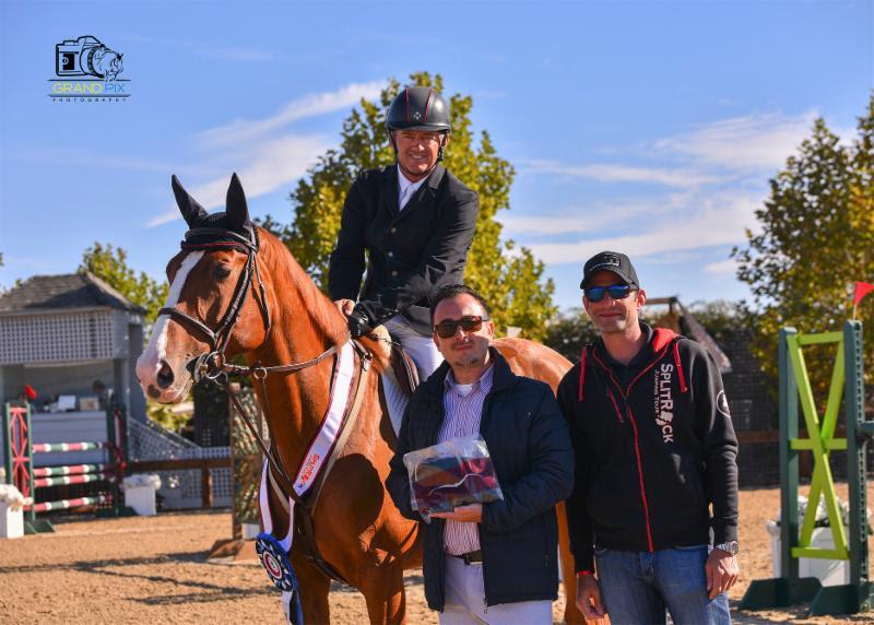 Will Simpson and Rumpleteazer DF with Alex Hindi of Solea Euqestrian and Derek Braun by Grand Prix Photography.jpg