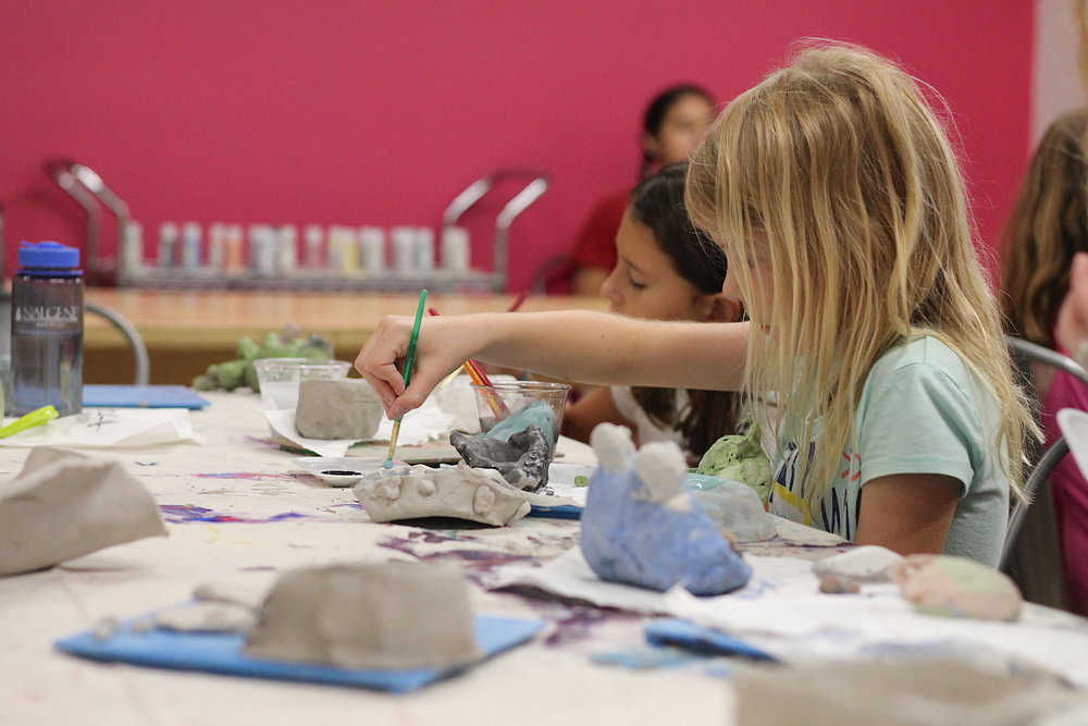 SAL - Art Camp 6-9 girl painting pottery (1).JPG