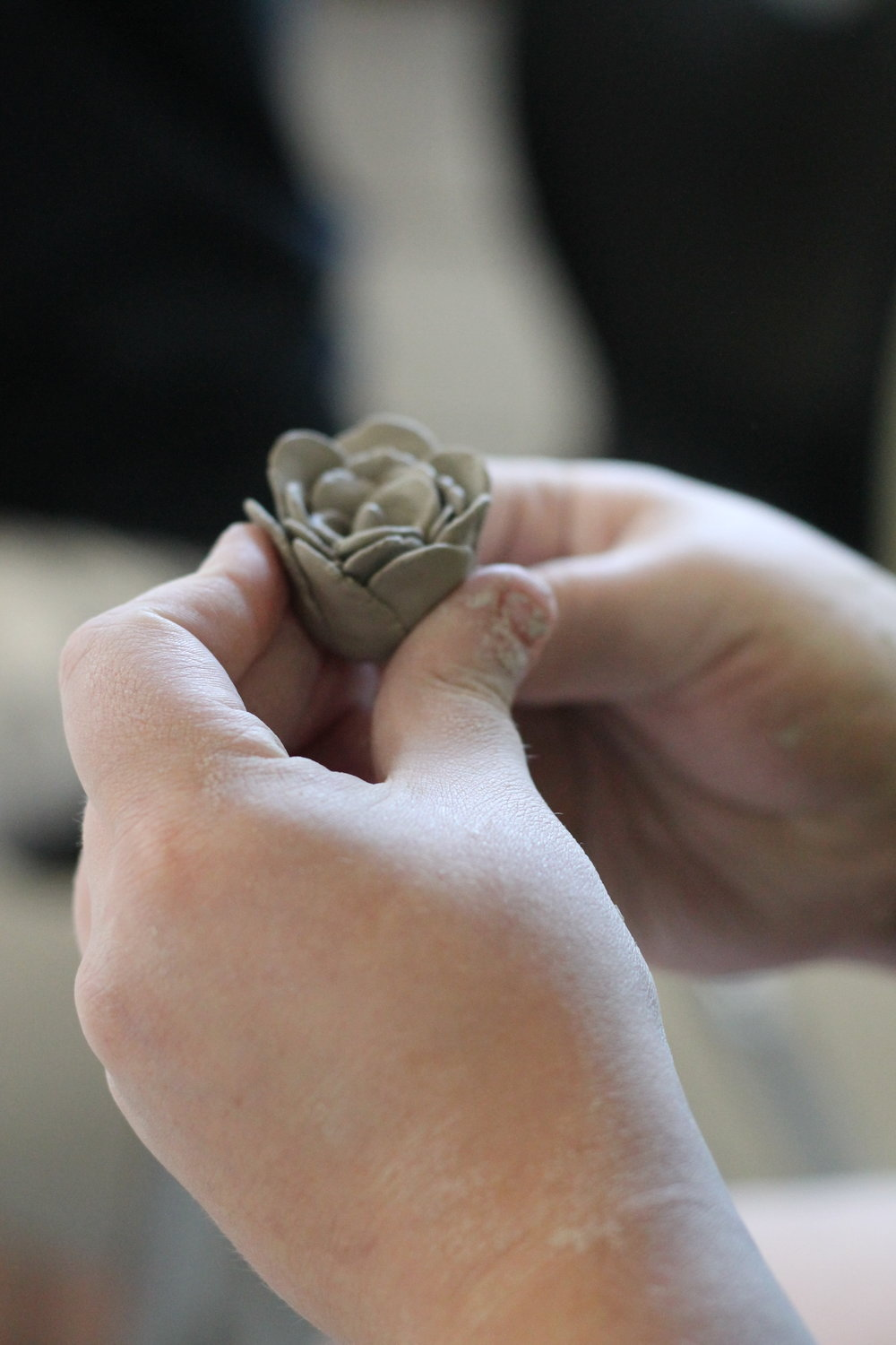 SAL - Studio Art Camp clay flower.JPG