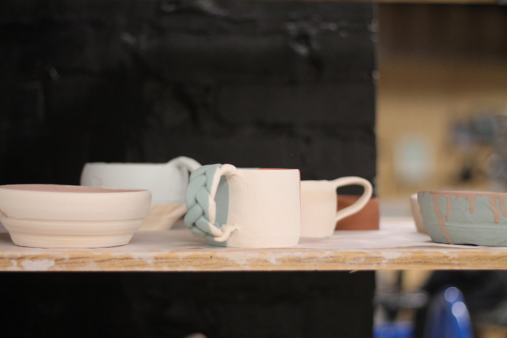 Art Lab - Pottery on shelf.JPG